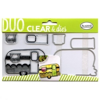 NEW Clear Duo Stamp & Dies - Caravan set