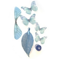 NEW Real Leaf & Organza Butterflies Set