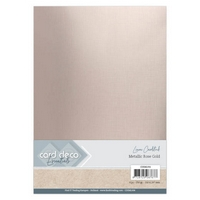 NEW Linen A4 Metallic Rose Gold