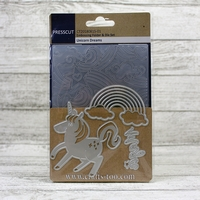 Presscut Embossing Folder & Die Set - Unicorn Dreams