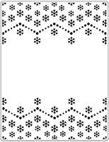 CHRISTMAS OFFER Crafts Too Embossing Folder - Snowflake 14.6 x 19 cm