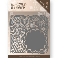 DUE20/11 Jeanines Art Classic Butterflies and Flowers Cutting Die - Flower Frame