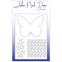 John Next Door Mask Stencil - Butterfly A5