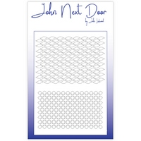 John Next Door Mask Stencil - Duo Mask Waves