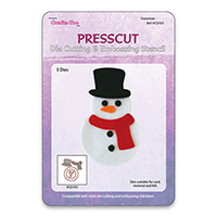 Presscut Cutting and Embossing Stencils - Snowman (5pcs)  AS SEEN ON TV