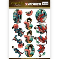 PRE ORDER 27/03 Amy Design Oriental Push Outs - Geishas