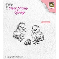 NEW Nellie Snellen Clear Stamps Spring - Chicken and Easter Egg